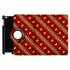 Distorted Stripes And Rectangles Pattern      			apple Ipad 3/4 Flip 360 Case by LalyLauraFLM