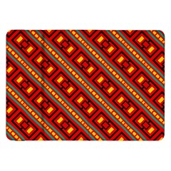 Distorted Stripes And Rectangles Pattern      samsung Galaxy Tab 8 9  P7300 Flip Case by LalyLauraFLM