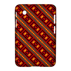 Distorted Stripes And Rectangles Pattern      			samsung Galaxy Tab 2 (7 ) P3100 Hardshell Case by LalyLauraFLM