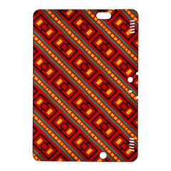 Distorted Stripes And Rectangles Pattern      kindle Fire Hdx 8 9  Hardshell Case by LalyLauraFLM