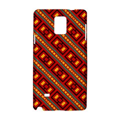 Distorted Stripes And Rectangles Pattern      			samsung Galaxy Note 4 Hardshell Case by LalyLauraFLM