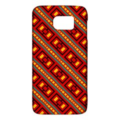 Distorted Stripes And Rectangles Pattern      			samsung Galaxy S6 Hardshell Case by LalyLauraFLM