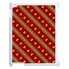 Distorted Stripes And Rectangles Pattern      apple Ipad 2 Case (white) by LalyLauraFLM