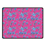Floral Collage Revival Fleece Blanket (Small) 50 x40 Blanket Front
