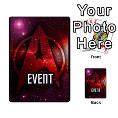 Star Trek The Dice Game Deck 1 By Carl White   Multi Purpose Cards (rectangle)   Nr65685hm13c   Www Artscow Com Back 52