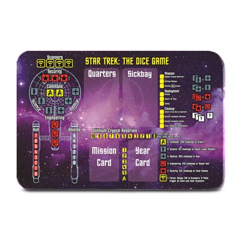Star Trek The Dice Game Board By Carl White   Plate Mat   Wsqg4pbftnfj   Www Artscow Com 18 x12 Plate Mat - 1