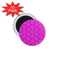 Pink Snowflakes Spinning In Winter 1 75  Magnets (10 Pack)  by DianeClancy