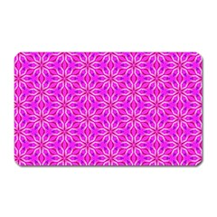 Pink Snowflakes Spinning In Winter Magnet (rectangular) by DianeClancy