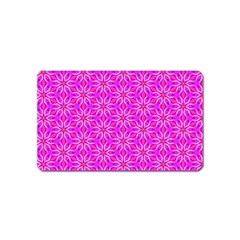 Pink Snowflakes Spinning In Winter Magnet (name Card) by DianeClancy