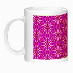 Pink Snowflakes Spinning In Winter Night Luminous Mugs by DianeClancy