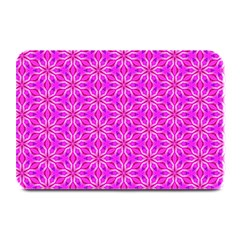 Pink Snowflakes Spinning In Winter Plate Mats by DianeClancy