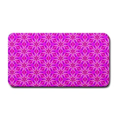 Pink Snowflakes Spinning In Winter Medium Bar Mats by DianeClancy