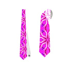 Pink Snowflakes Spinning In Winter Neckties (two Side)  by DianeClancy