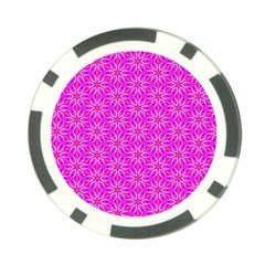 Pink Snowflakes Spinning In Winter Poker Chip Card Guards by DianeClancy