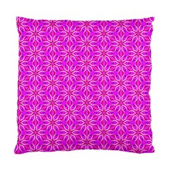 Pink Snowflakes Spinning In Winter Standard Cushion Case (one Side) by DianeClancy
