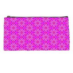 Pink Snowflakes Spinning In Winter Pencil Cases by DianeClancy