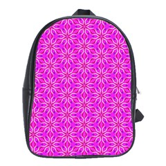 Pink Snowflakes Spinning In Winter School Bags(large)  by DianeClancy