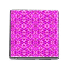 Pink Snowflakes Spinning In Winter Memory Card Reader (square) by DianeClancy