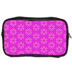 Pink Snowflakes Spinning In Winter Toiletries Bags 2 Side by DianeClancy
