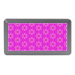Pink Snowflakes Spinning In Winter Memory Card Reader (mini) by DianeClancy