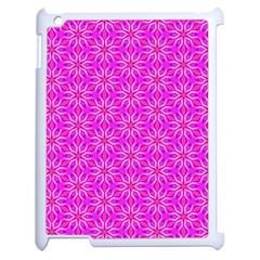 Pink Snowflakes Spinning In Winter Apple Ipad 2 Case (white) by DianeClancy