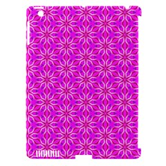 Pink Snowflakes Spinning In Winter Apple Ipad 3/4 Hardshell Case (compatible With Smart Cover) by DianeClancy