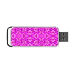 Pink Snowflakes Spinning In Winter Portable Usb Flash (one Side) by DianeClancy