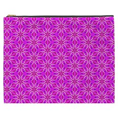 Pink Snowflakes Spinning In Winter Cosmetic Bag (xxxl)  by DianeClancy