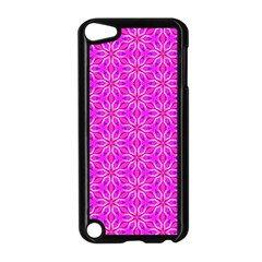 Pink Snowflakes Spinning In Winter Apple Ipod Touch 5 Case (black) by DianeClancy