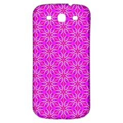 Pink Snowflakes Spinning In Winter Samsung Galaxy S3 S Iii Classic Hardshell Back Case by DianeClancy