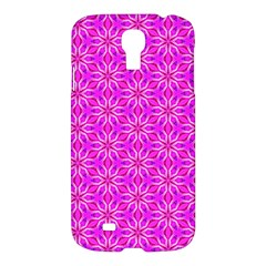 Pink Snowflakes Spinning In Winter Samsung Galaxy S4 I9500/i9505 Hardshell Case by DianeClancy