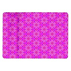 Pink Snowflakes Spinning In Winter Samsung Galaxy Tab 10 1  P7500 Flip Case by DianeClancy