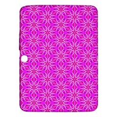 Pink Snowflakes Spinning In Winter Samsung Galaxy Tab 3 (10 1 ) P5200 Hardshell Case  by DianeClancy
