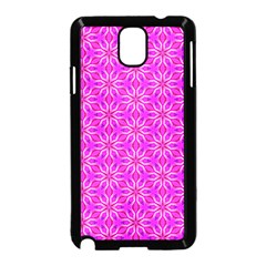Pink Snowflakes Spinning In Winter Samsung Galaxy Note 3 Neo Hardshell Case (black)