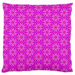 Pink Snowflakes Spinning In Winter Large Flano Cushion Case (two Sides) by DianeClancy