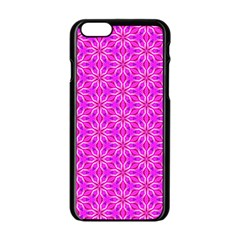 Pink Snowflakes Spinning In Winter Apple Iphone 6/6s Black Enamel Case