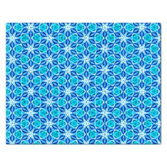 Aqua Hawaiian Stars Under A Night Sky Dance Rectangular Jigsaw Puzzl by DianeClancy
