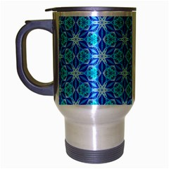 Aqua Hawaiian Stars Under A Night Sky Dance Travel Mug (silver Gray) by DianeClancy
