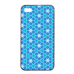 Aqua Hawaiian Stars Under A Night Sky Dance Apple Iphone 4/4s Seamless Case (black) by DianeClancy