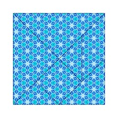 Aqua Hawaiian Stars Under A Night Sky Dance Acrylic Tangram Puzzle (6  X 6 ) by DianeClancy