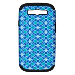 Aqua Hawaiian Stars Under A Night Sky Dance Samsung Galaxy S Iii Hardshell Case (pc+silicone) by DianeClancy