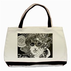 Smoking Canvas Twin-sided Black Tote Bag by DryInk