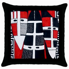 Selknam Black Throw Pillow Case by DryInk
