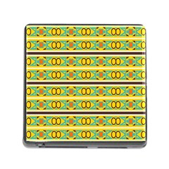 Circles And Stripes Pattern       			memory Card Reader (square) by LalyLauraFLM