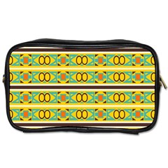 Circles And Stripes Pattern       toiletries Bag (one Side) by LalyLauraFLM