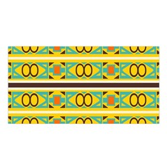 Circles And Stripes Pattern       Satin Shawl by LalyLauraFLM