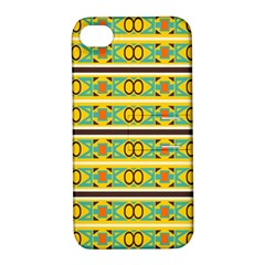 Circles And Stripes Pattern       apple Iphone 4/4s Hardshell Case With Stand by LalyLauraFLM