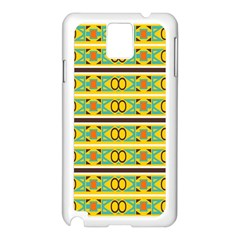Circles And Stripes Pattern       			samsung Galaxy Note 3 N9005 Case (white) by LalyLauraFLM