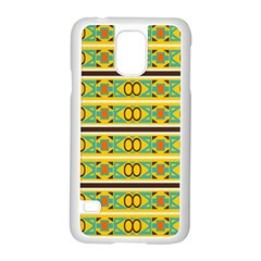 Circles And Stripes Pattern       			samsung Galaxy S5 Case (white) by LalyLauraFLM