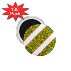 Indian Floral Pattern Stripes 1 75  Magnets (100 Pack)  by dflcprints